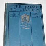 The Road to Liberty  Patriotic Book of US and  NJ Constitution  Declaration of Independence c