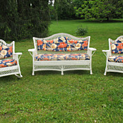 3 Piece Bar Harbor Wicker Parlor Set