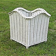 Art Deco Wicker Planter Fernery Heywood Wakefield Company