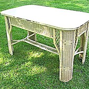 Art Deco Wicker Library Table  Heywood Brothers and Wakefield Company