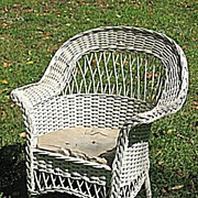 Child's Bar Harbor Wicker Arm Chair