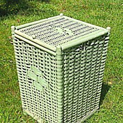 Reed Wicker Hamper Circa 1920's