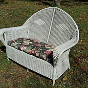Art Deco Wicker Settee