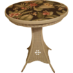 Round Art Deco Wicker Pedestal Table