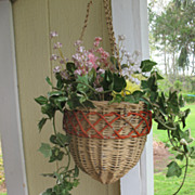 Wicker Hanging Flower Basket