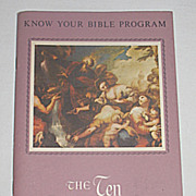 The Ten Commandments� w/ Bible Quotations & Color Illustrations, Vintage Religious Paperback B