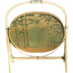Tilt Top Wicker Table with Original Hand Painted Landscape Top