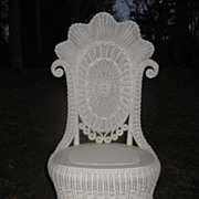 Fancy Victorian Wicker Reception Chair