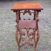 Rare Ornate Antique Natural Victorian Wicker Table Heywood Brothers and Company Circa 1880's