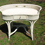 Art Deco Wicker Desk Circa 1920's