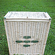Wicker Hamper Circa 1920's