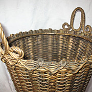 Antique Victorian Wicker Basket