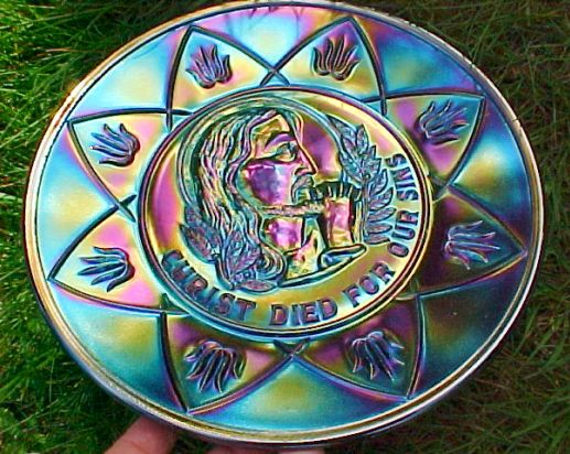 "Black Carnival ""Christ Died For Our Sins"" Plate - VERY RARE"