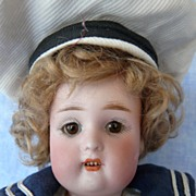 SALE Adorable Simon Halbig, Kammer Reinhardt 117 Character Sailor Doll
