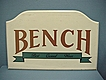 Wood Advertising Sign for Bench Casual Wear