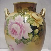 "SALE Nippon Vase  9 1/4"" tall Hand Paint   $179"