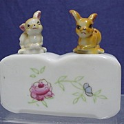 SALE Fawns Salt and Pepper Nodder Set NO Damage