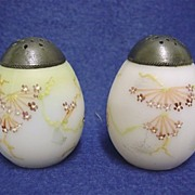 SALE Salt and Pepper Set Mt. Washington Shakers Egg Shaped
