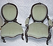 Victorian Chairs Matching Pair of Antique Ladies and Gents