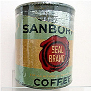 SALE Chase & Sanborn Coffee Tin Seal Brand