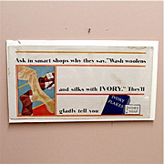 SALE Trolley Sign Ivory Flakes Advertising Sign for Soap