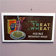 SALE Heinz Cereal Lithograph Advertising Sign
