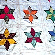 SALE Quilt Cover Six Point Star Pattern