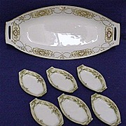 SALE Nippon Celery Set White and Gold Porcelain