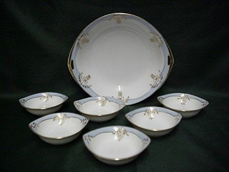 Butter Set Nippon Porcelain Service for 6