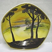 SALE Nippon Porcelain Footed Dish Hand Painted Scenic