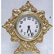 SALE Gold Gilt  Strut Clock by Waterbury