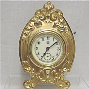 SALE Gold Gilt Waterbury Clock Co. Mantel Clock