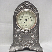 SALE New Haven Mantel Clock  Pewter Finish