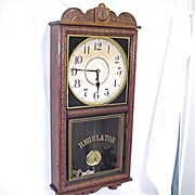 SALE Antique American Wall Clock Waterbury