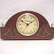 SALE Inlaid Walnut Desk or Mantel Clock  50% OFF