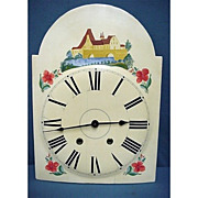 SALE 19C Clock Dial in Wood from Pennsylvania Grandfather Clock