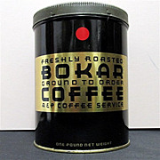 SALE Bokar Advertising Coffee Tin