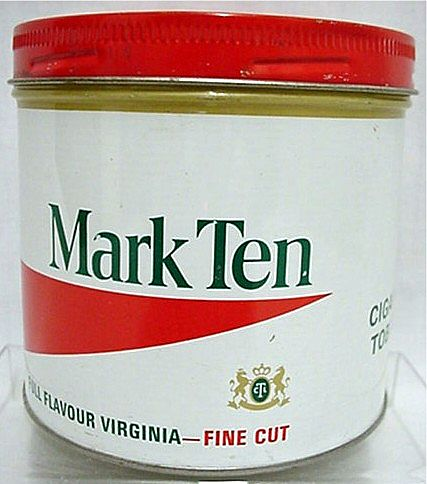 CHEAP TINS Mark Ten Virginia Tobacco Tin