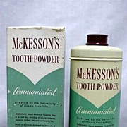 SALE McKessons Tooth Powder Antique Pharmacy Drugstore Item