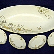 SALE Nippon Celery Set White and Gold Pattern