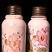 SALE American Glass Creased Neck Salt and Pepper Shakers