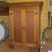 SALE Antique American Pine Wall Hanging Cupboard