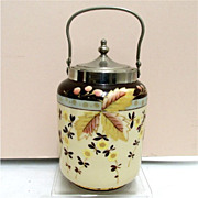 SALE Bristol Glass Biscuit Jar