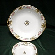 Nippon Porcelain Berry Set Master Bowl and 6 Servings