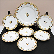 SALE Cake Set Service for 6 Nippon Porcelain