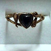 SALE Onyx and Gold Antique Ring Size 7  $345