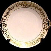 SALE Cake Set Nippon White and Gold Set with Raised Gold Relief