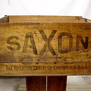 SALE SAXON Oats American Cereal Co. Wood Advertising Box