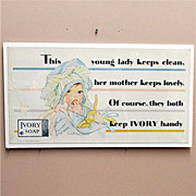 SALE Ivory Soap and Flakes Advertising Sign Lithograph by Lucile Patterson Marsh