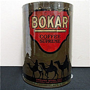 SALE Advertising Tin Bokar Coffee
